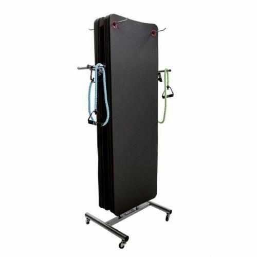 Fitness mat rack